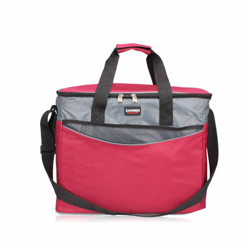34L Extra Large Thickening Lunch Bag 600D Oxford Ice Pack Insulated Cooler  Bag Cold Storage Bags Fresh Food Picnic Container