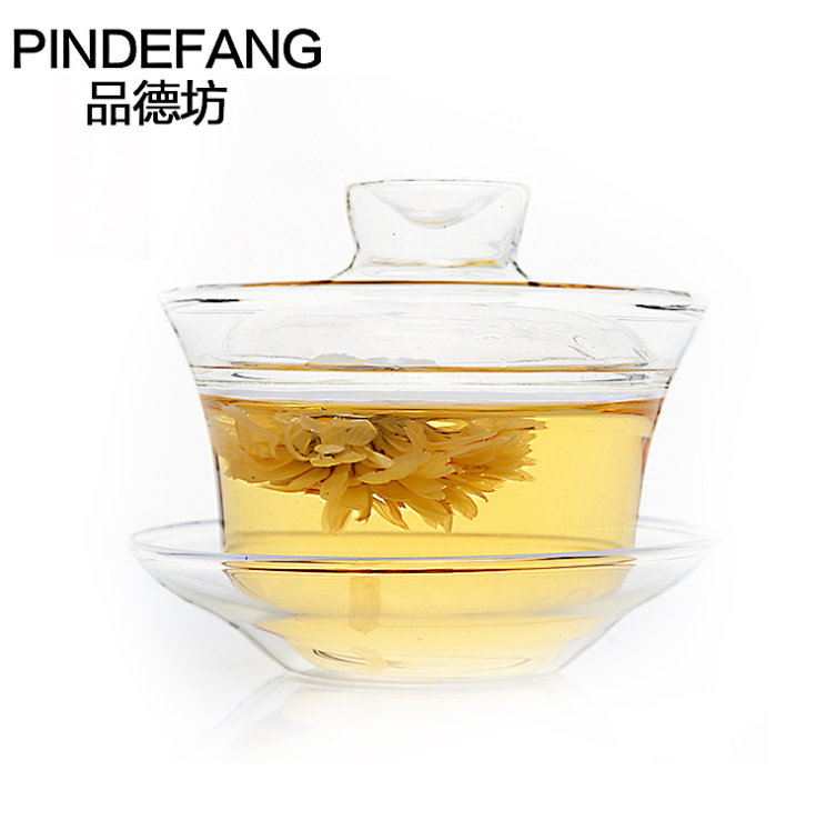 PINDEFANG Super Clear Glass Cup and Saucer Lid Health Cozy Tea Time Cups Office Gift Teaset Birthday Warming hot sale glass mugs