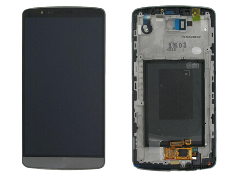Para lg g3 d850 d855 display lcd + de toque digitador de vidro + quadro assembléia substituição da tela cinza/branco/cor do ouro
