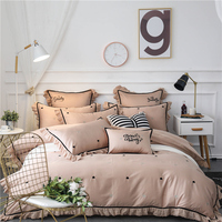 4/6/7Pcs Egypt cotton Melody of love Bedding Set embroidery hollow lace Duvet cover set Bed Sheet Pillowcases Queen King size