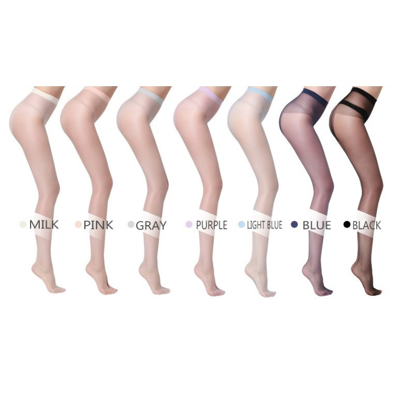 10 pairs Women sexy pantyhose 70D Ultra thin Invisible tights cream colors Female Nylon sheer tights stockings Hosiery 6 colors