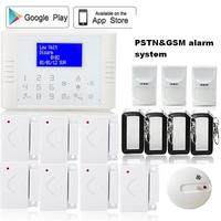 Russian French Turkish 433 Mhz Wireless Sms Auto Dail GSM PSTN Alarm System Pet Friendly PIR