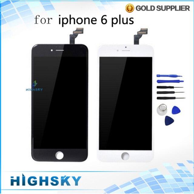 Aaaa testado para iphone 6 plus display lcd + touch screen digitador de Vidro com Quadro Ferramentas Assembléia Grátis 1 Peça Frete Grátis