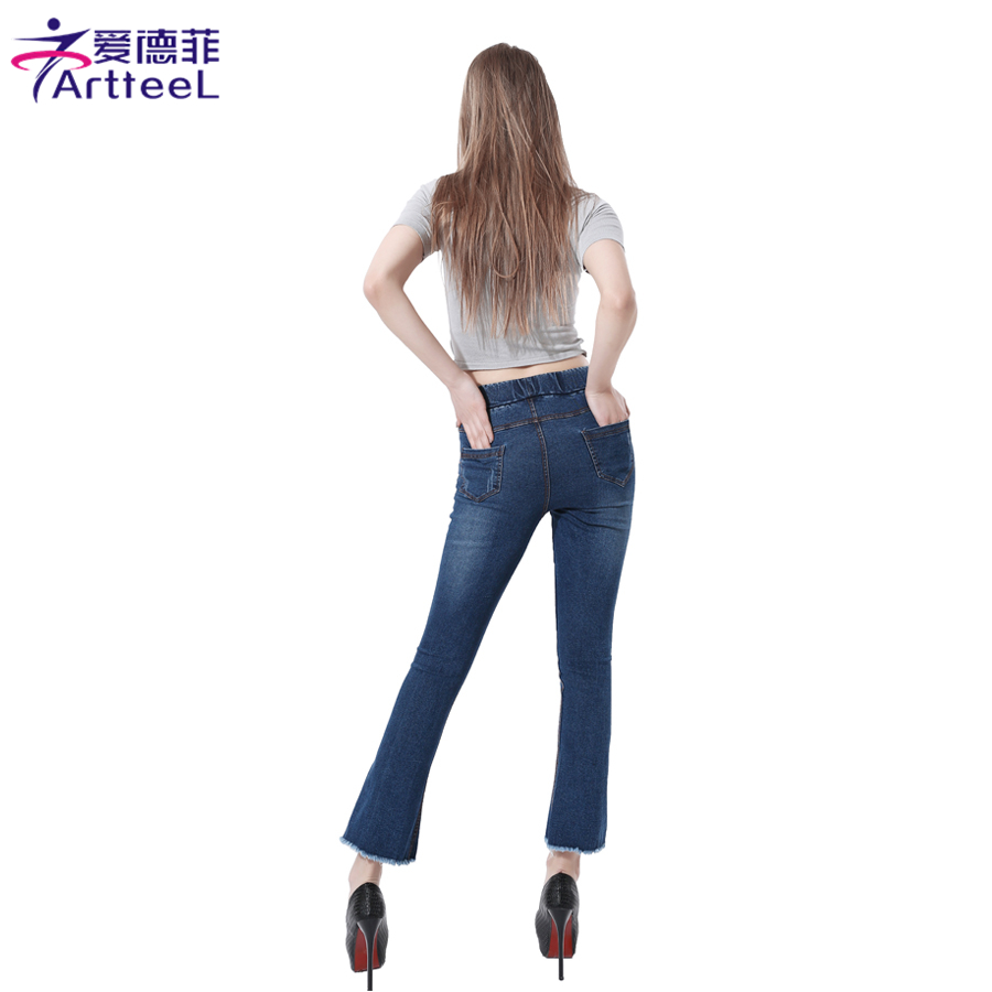 sexy-stretch-skinny-flare-jeans-petite-blue