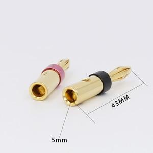 Image 3 - 8 stuks Vergulde UST Banaan Stekkers 4mm Banana Plug Voor Video Speaker Adapter Audio