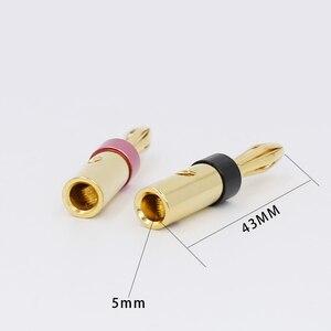 Image 3 - 8 sztuk złota pozłacane UST wtyki bananowe 4mm wtyk bananowy dla wideo głośnik Adapter Audio