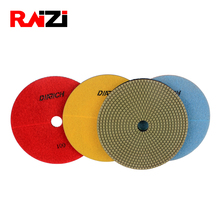 Raizi hot sale 4 inch granite wet polishing pads 7 pieces granite polishing kit for counter top