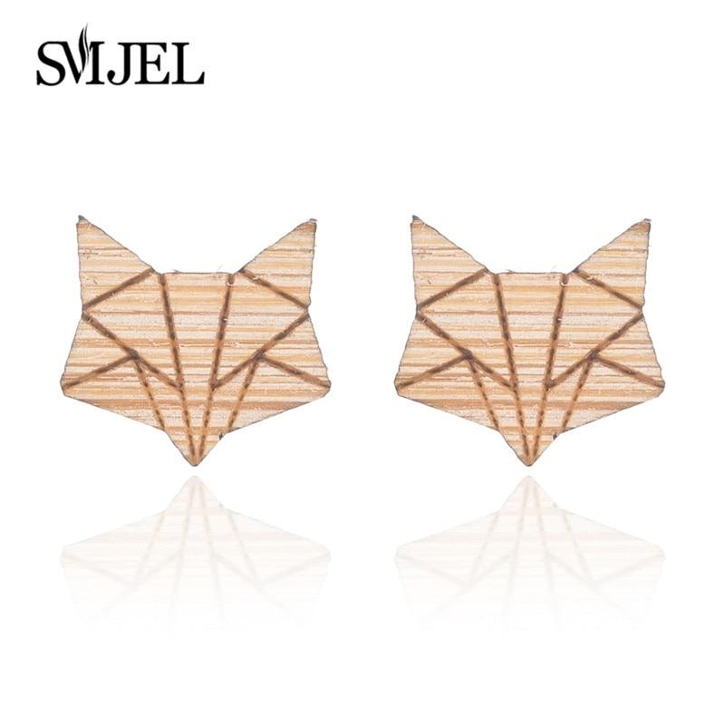 Fox Earrings Wood-5
