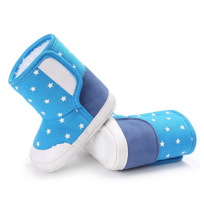 Новорожденных зимние сапоги для Обувь для девочек модная тёплая обувь холст мягкая подошва пинетки для маленьких мальчиков Обувь для малыш...