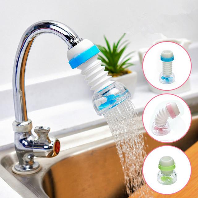 Faucet rotating splash-proof water-saving shower