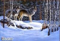 Mordern arte stampa animale lupo stampa su tela foto arte della parete della pittura a olio soggiorno cose decorative