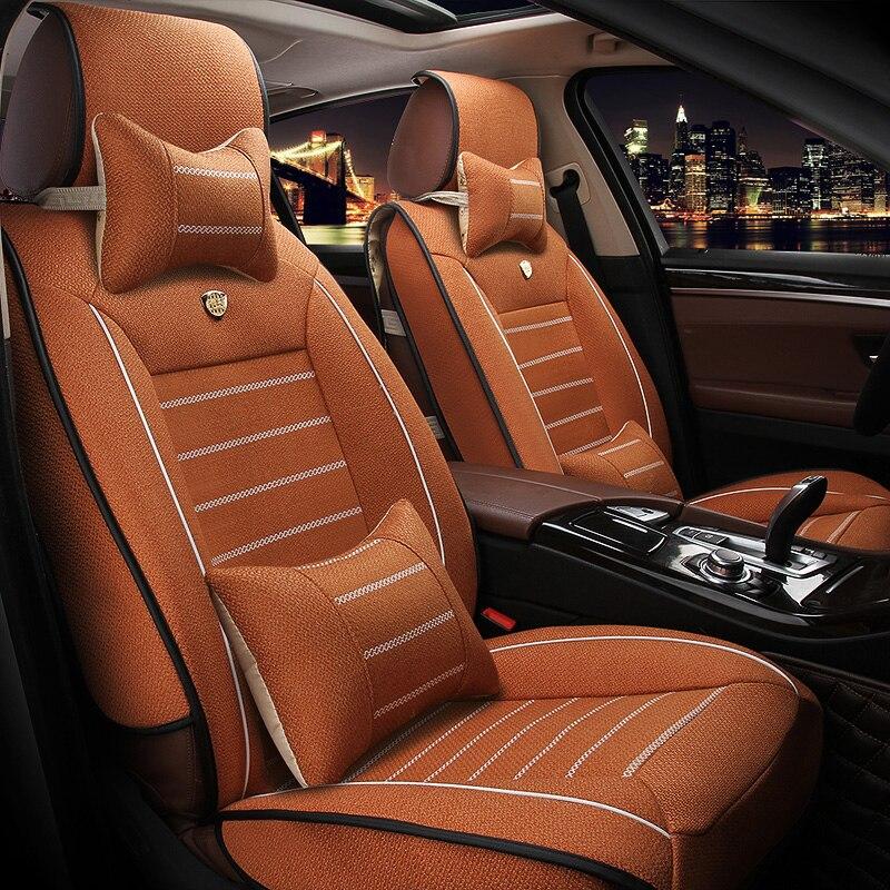 Universal Linen car seat covers For BMW e30 e34 e36 e39 e46 e60 e90 f10 f30 x3 x5 x6 car accessories styling