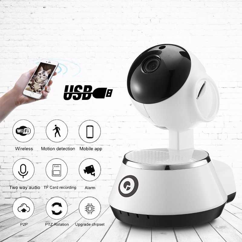 DIGOO BB-M1 Wireless WiFi USB Baby Monitor Alarm Home Security IP Camera HD 720P Audio Surveillance Security Protect WIFI Camera