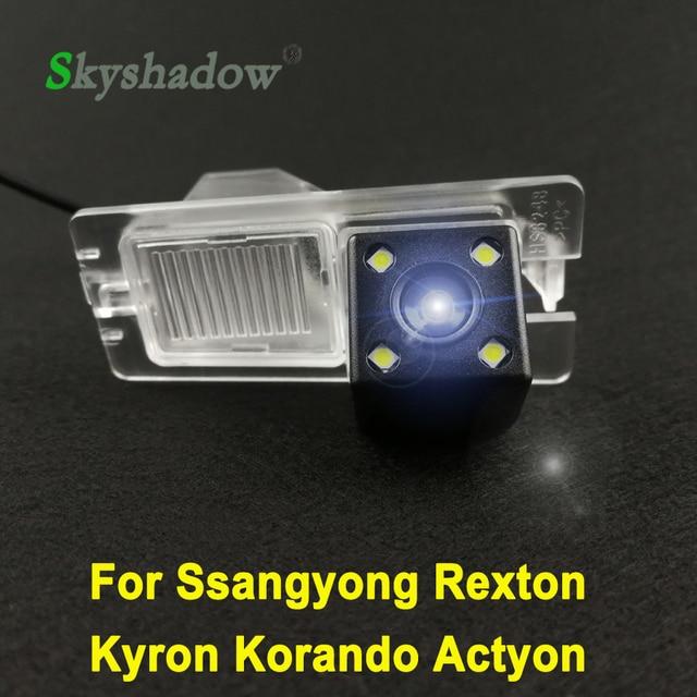 HD автомобиль CCD 4 светодиода ночное видение резервного копирования заднего вида камера водостойкая парковка для Ssangyong Rexton Kyron Korando Actyon