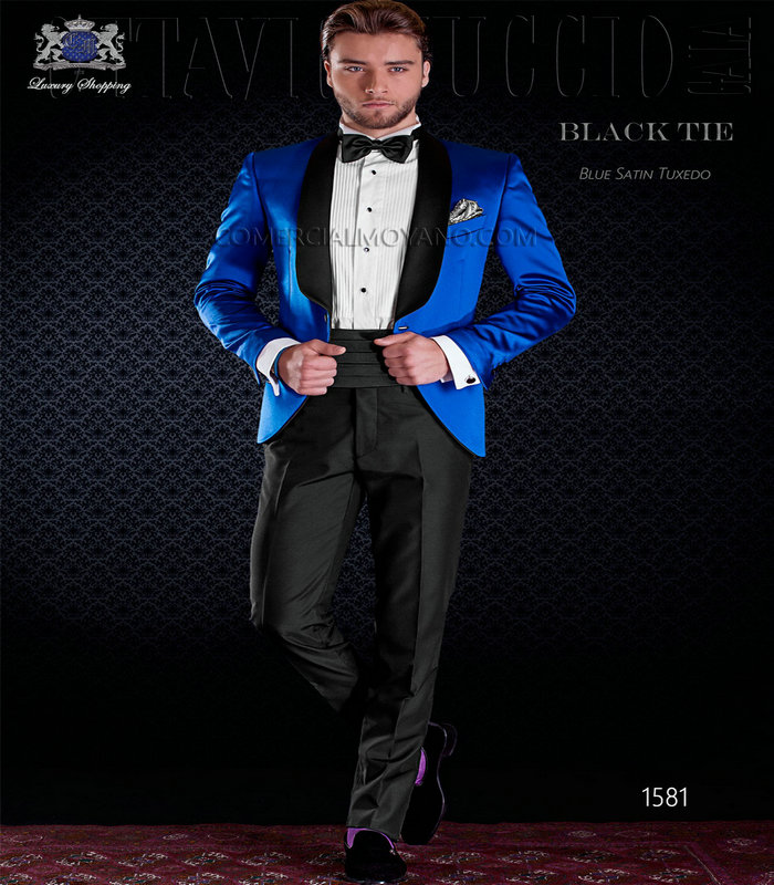 Black And Royal Blue Prom Suits - Go Suits