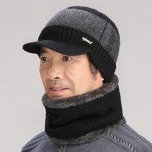 Фотография Mens Winter Hats Mask Balaclava Winter Hat Cap Men Mutsen Mannen Fashion Knitted Dad Female Bonnet Gorro Pompom Chapeu Muts