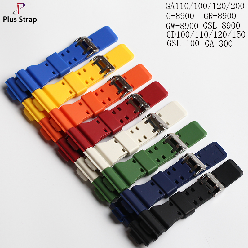 Plus Strap 16 mm Rubber Watch Band For G-SHOCK Strap Color Watches Wristband Waterproof Sport Replacement Accessories