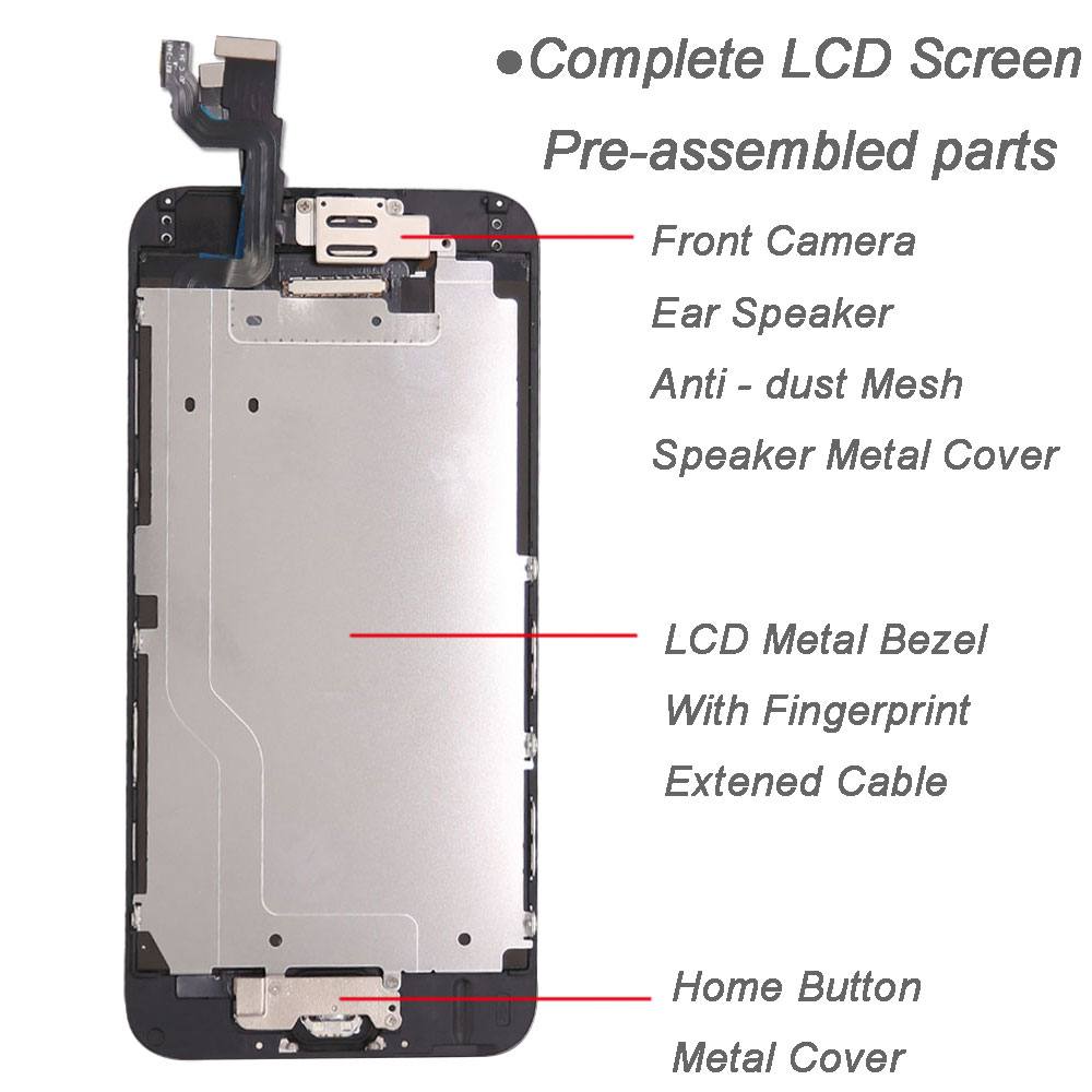 Image 3 - Full set screen For iPhone 6 6G 6 plus Screen LCD Replacement Display ,complete With Home Button Front Camera Speaker-in Mobile Phone LCD Screens from Cellphones & Telecommunications on