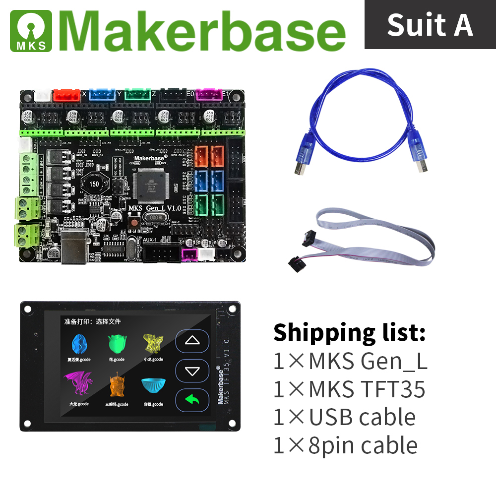 MKS Gen L and MKS TFT35 kits for 3d printers developed by Makerbase