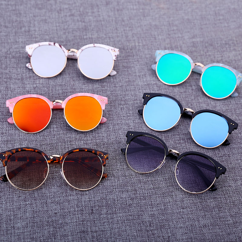 2016 High Quality Fashion Kids Sunglasses Girls Boys Baby Child Kid Luxury Brand Designer Sun Glasses With Logo 100% Uv400 Gift