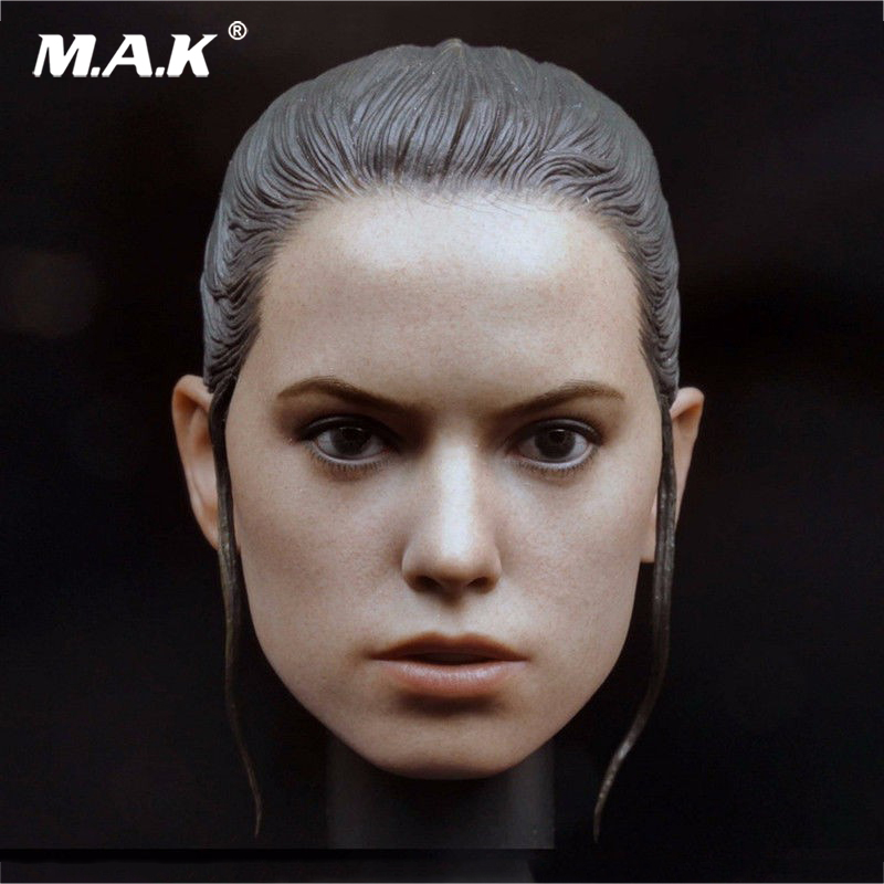 1:6 Scale Star War Daisy Ridley Rey Head Sculpt Beauty Headplay Model For 12 inches Female Action Body Figure mak custom 1 6 scale hugh jackman head sculpt wolverine male headplay model fit 12kumik body figures