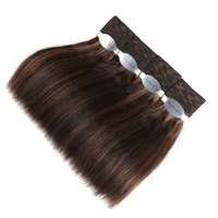 Styleicon Wet And Wavy Human Hair Bundles Indian Remy Hair Weave 4 Bundles Deal Hair Extensions Piano Color 4/27 30 33 99J Hair