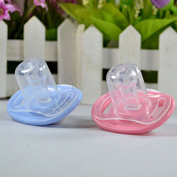 Newborn Baby Kids Orthodontic Dummy Pacifier Infant Silicone Teat Nipple Soother BluePink artificial nails