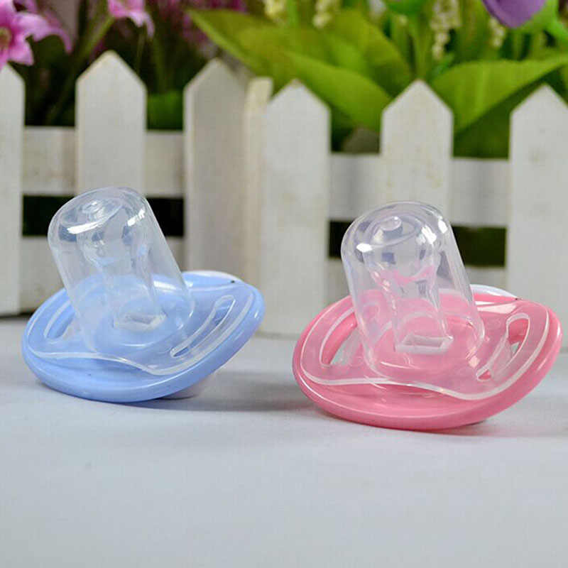 Newborn Baby Kids Orthodontic Dummy Pacifier Infant Silicone Teat Nipple Soother Blue/Pink