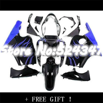Nn-Motorcycle Fairing kit for KAWASAKI Ninja ZX12R 00 01 ZX 12R 2000 2001 ZX-12R 00-01 Blue black Motocycle Fairings bodywork