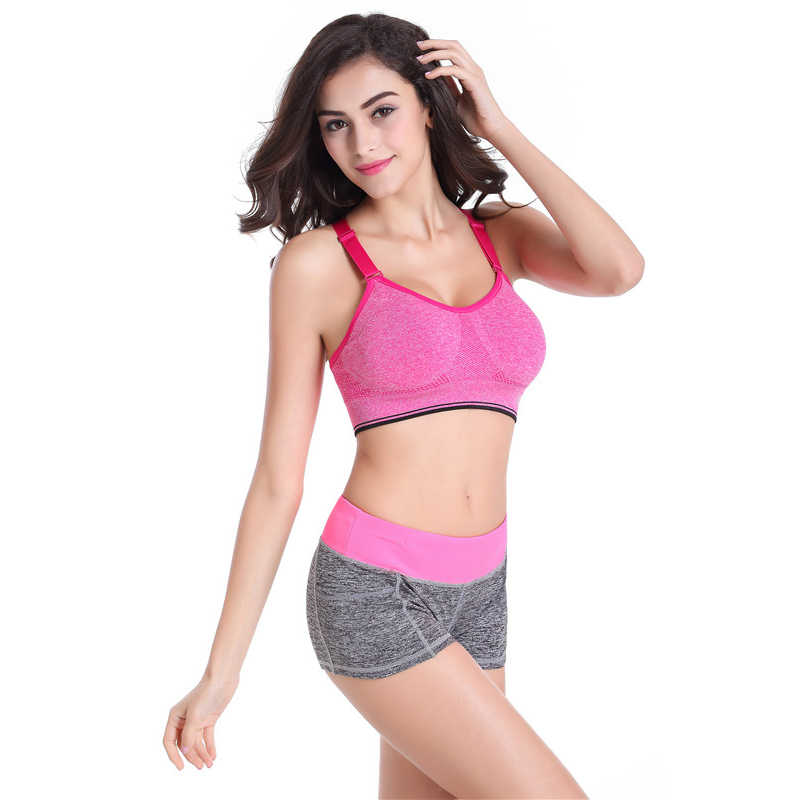 43204dceaa ... B.BANG Women Yoga Sets Running Sports Bra + Shorts Set Fitness Gym Push  Up ...