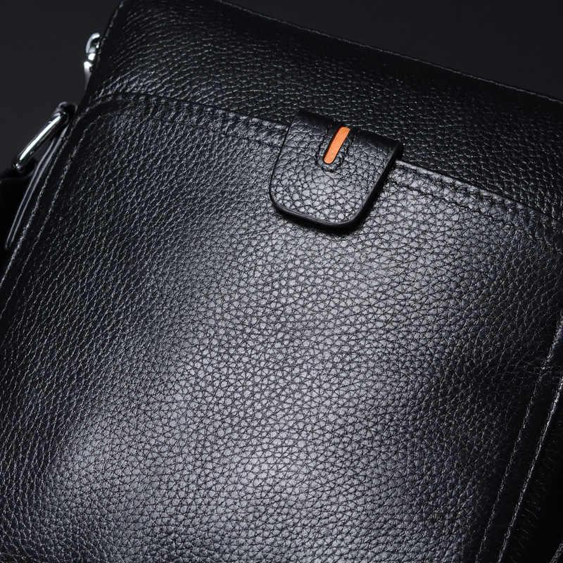... Casual genuine leather men bags business fashion men messenger bag  brand designer men s shoulder ... 7e40823689d99