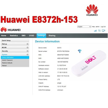 100pcs Unlocked Huawei E8372 E8372h-153 150Mbps 4G LTE Wifi modem with 4g antenna 35dbi gain 1