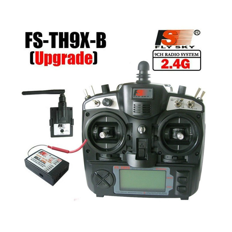 1set 2.4G 9ch system Flysky FS rc radio Transmitter & Receiver Combo 9ch remtoe control FS-TH9X TH9XB TX + RX flysky fs th9xb transmitter fs r9b receiver combo