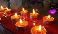 50PCS Pillar shaped Aromatherapy Candle Long Burning Smokeless Candles Wedding Candle Use for Wedding Party Home Decor