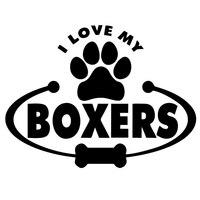 Atacado 10 pçs/lote 20 pçs/lote Eu Amo Meus Boxers Arco Auto Brisa Traseiro Engraçado Vinyl Decal Serve Para Etiqueta Do Carro Caminhão janela Laptop