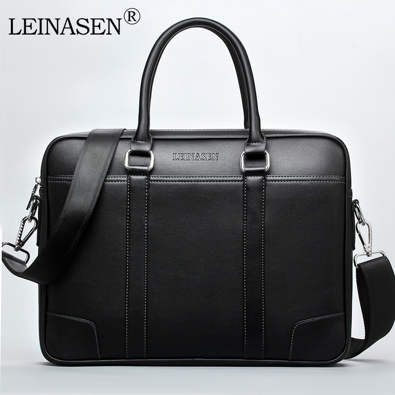 LEINASEN Brand 2018 High quality Laptop Handbags Fashion Business Men Briefcase pu Leather Male Briefcase Casual messager bags 3colors hk dashan brand men s briefcase high quality pu leather business man 15 laptop handbags black fashion casual male bags