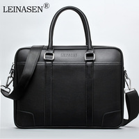 LEINASEN Brand 2017 High Quality Laptop Handbags Fashion Business Men Briefcase Pu Leather Male Briefcase Casual