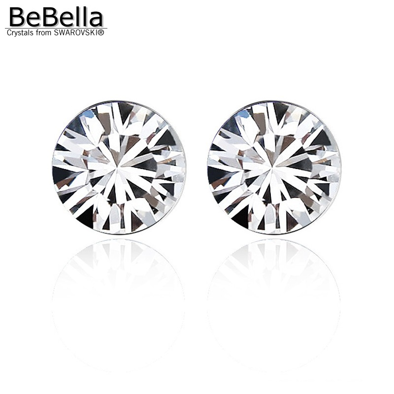 f49344912 BeBella 5mm round rhinestone stud earrings with Crystals from Swarovski  original fashion jewelry for women girl wife gift 2018-in Stud Earrings  from Jewelry ...
