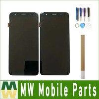 5.7 For BQ Mobile BQ 5701L Slim BQ5701L BQ 5701L LCD Display Touch Screen Digitizer Black Color with tools&tape