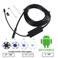 7MM 3.5M Mini Usb android Inspection endoscope Camera Underwater Endoscopio Tube snake Micro-cameras 6Led For Windows PC Android