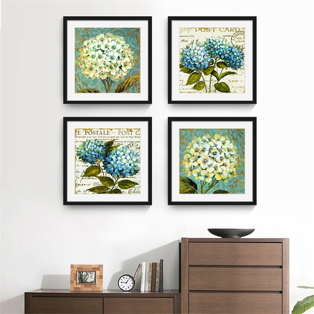 Cluster Of Romantic Fresh Syzygium Aromaticum Lavenderlilacs Canvas Painting Artwork Aesthetic Wall Picture For Room Home
