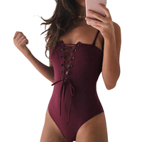 Rompers Summer Women Jumpsuits Bandage Bodysuits Romper Lace Up Sexy Solid Femme Sexy Swimsuit Overalls