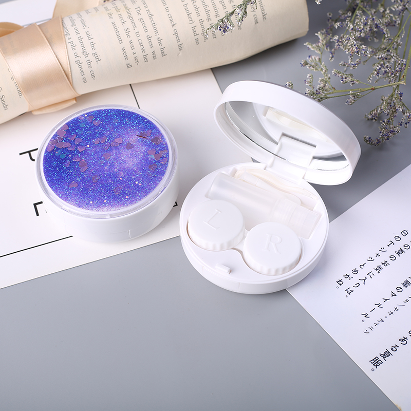 luxury porta lentillas cartoon cute star high quality fashion contact lens case color eye lenses case in Eyewear Accessories from Apparel Accessories