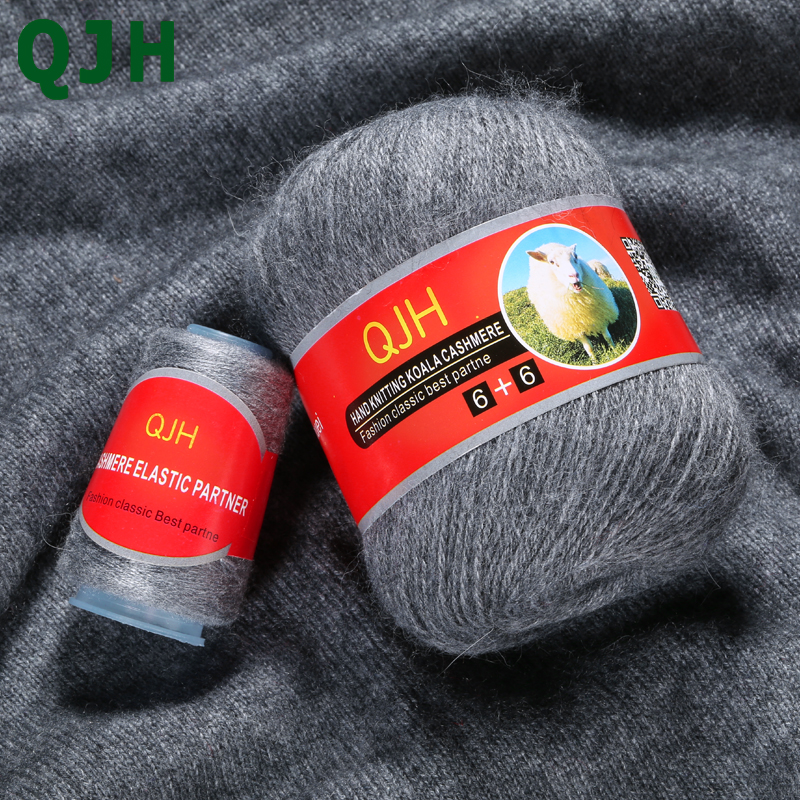 70g/pcs High Quality 100% Mongolian Soft Cashmere Hand-knitted Pure Mink Cashmere Line Yarns Ball Scarf Wool Yarny Gift Wiring