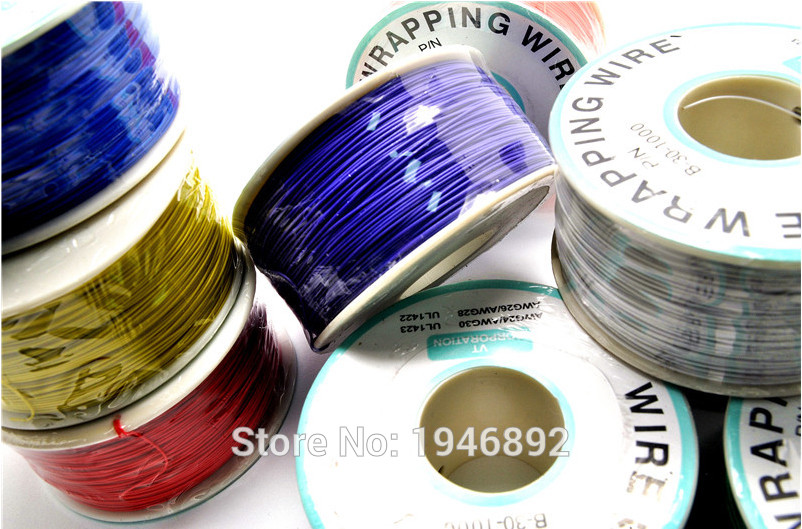 High quality electrical Wire Wrapping Wire Wrap 10 Colors Single strand copper AWG30 Cable OK Wire & PCB Wire high quality electrical wire wrapping wire wrap 10 colors single strand copper awg30 cable ok wire
