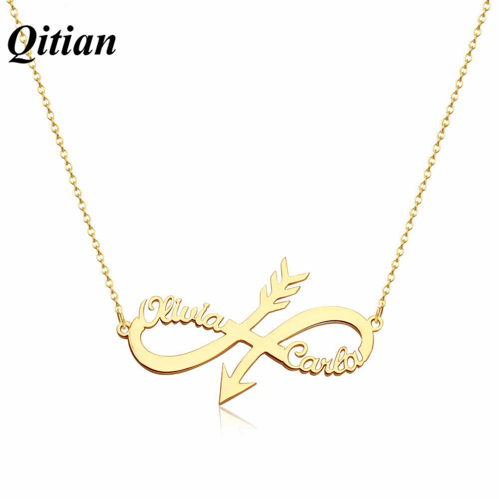 8d25e8de6bfd1 Detail Feedback Questions about Custom Arrow Name Necklace ...