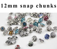 50pcs/lot Mix Many Styles small 12mm Metal snap new button Fit For watches Snap Leather Bracelet Jewelry