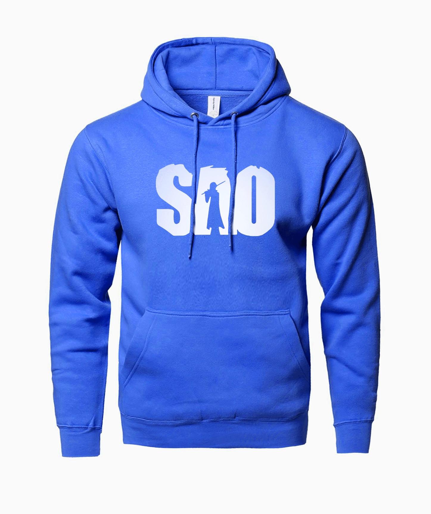 hot sale Anime S.A.O sweatshirts men 2018 spring winter new Sword Art Online hoodies men fleece fashion harajuku men hoodie