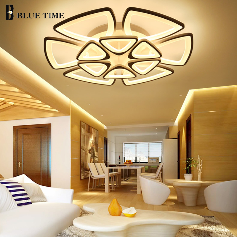 White Modern Led Chandelier For Living room Dining room Bedroom Fixtures Acrylic Led Ceiling Chandelier Lighting AC110V 220V modern led chandelier for living room dining room kitchen lustre ac110v 220v led ceiling chandelier lighting fixutres luminaries