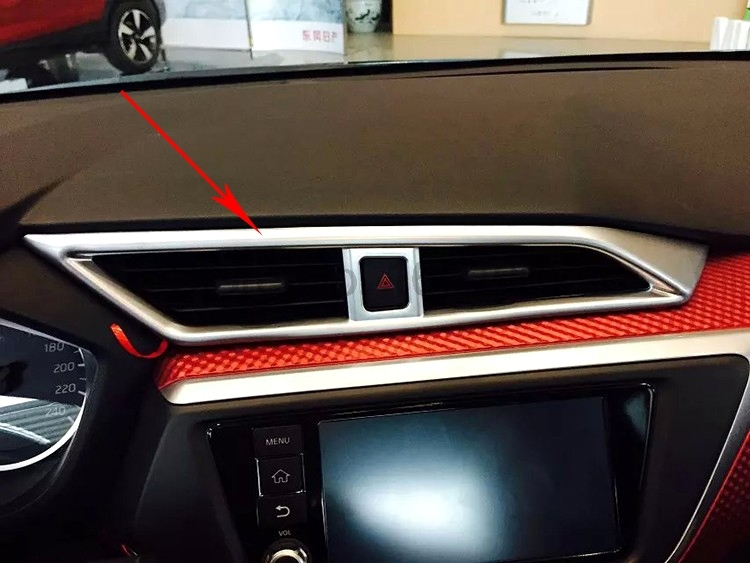 For Nissan Lannia 2016 3pcs Chrome Car Interior Air Condition AC Vents Outlet Frame Cover Molding Trim Protective Decorative